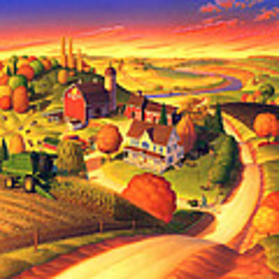 Fall On The Farm  Poster