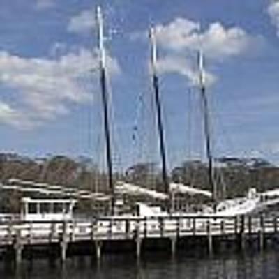 Three Mast Sailboat Poster by Ralph Jones