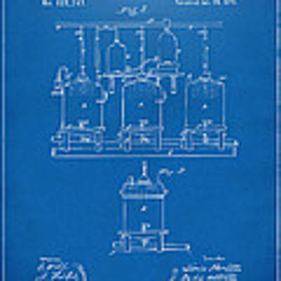 1873 Brewing Beer And Ale Patent Artwork - Blueprint Poster