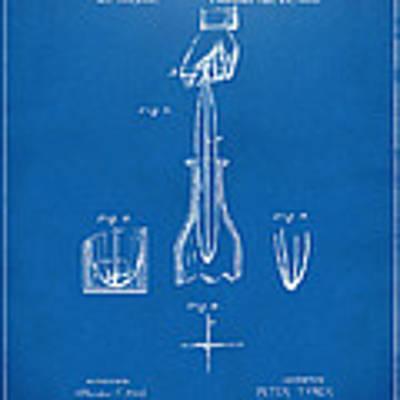 1878 Cork Extractor Patent Artwork - Blueprint Poster