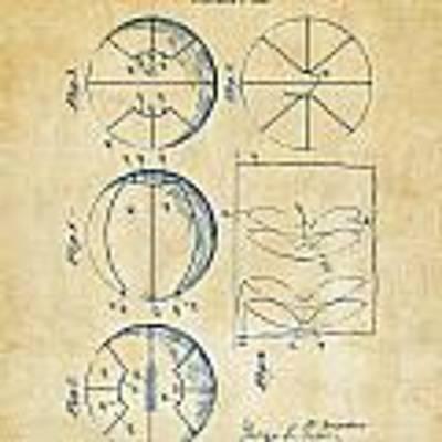 1929 Basketball Patent Artwork - Vintage Poster
