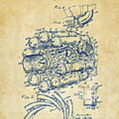 1946 Jet Aircraft Propulsion Patent Artwork - Vintage Poster