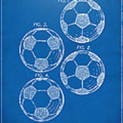 1964 Soccerball Patent Artwork - Blueprint Poster