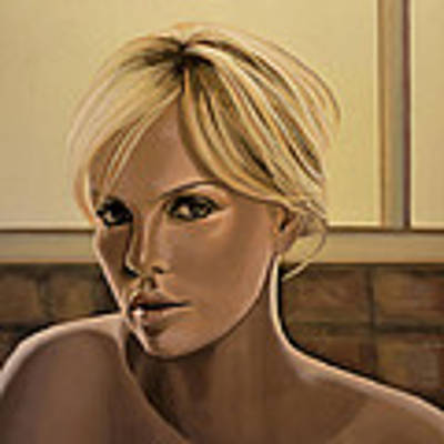 Charlize Theron Painting Poster by Paul Meijering