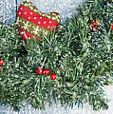 Christmas Garland Poster by Amanda Elwell