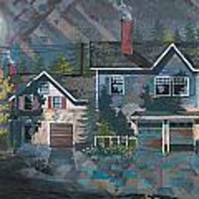 Home In The Suburbs Poster by John Wyckoff