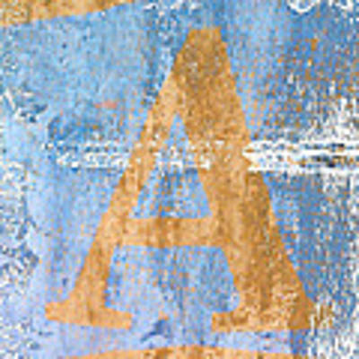 A In Blue Poster