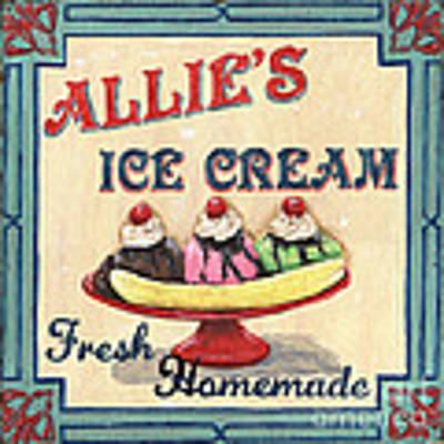 Allie's Ice Cream Poster by Debbie DeWitt