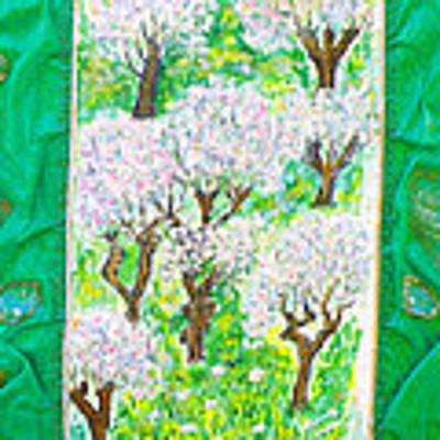 Almond Trees And Leaves Poster by Augusta Stylianou