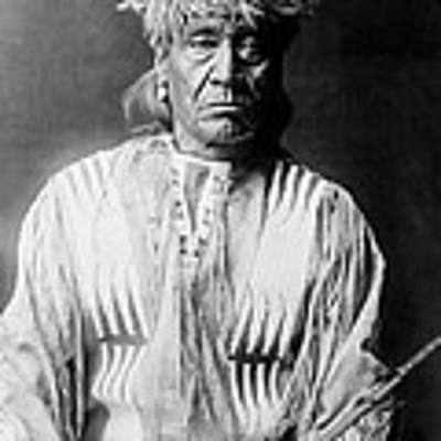 Atsina Indian Man Circa 1908 Poster by Aged Pixel