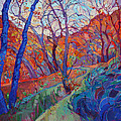 Autumn Blues Poster by Erin Hanson