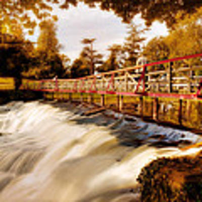 Autumn Waterfall / Maynooth Poster by Barry O Carroll