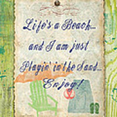 Beach Notes-e Poster by Jean Plout