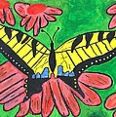 Tiger Swallowtail Butterfly Poster by Raqul Chaupiz