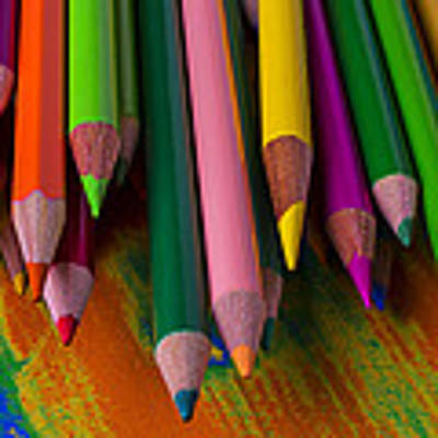 Beautiful Colored Pencils Poster