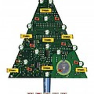 Christmas Tree Motherboard Poster