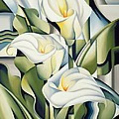 Cubist Lilies Poster