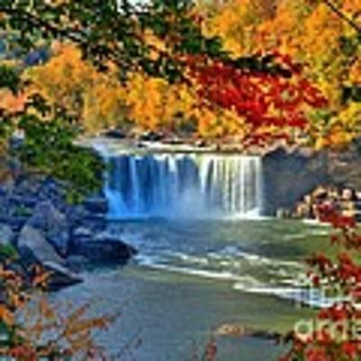 Cumberland Falls In Autumn 2 Poster by Mel Steinhauer