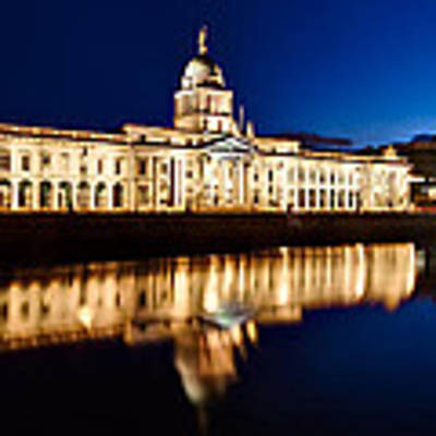 Customs House At Night / Dublin Poster by Barry O Carroll