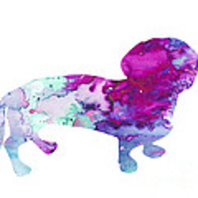 Dachshund 2 Poster by Watercolor Girl