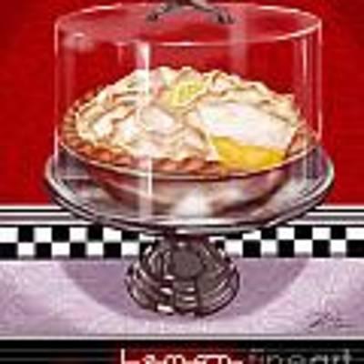 Diner Desserts - Lemon Meringue Pie Poster