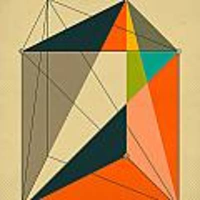 Dissection Of The Triangular Prism Into 3 Pyramids Of Equal Volume Poster
