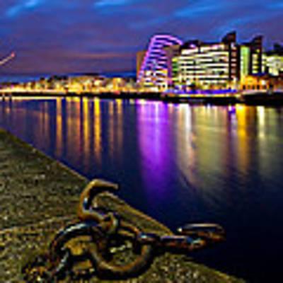 Dublin Docklands At Night / Dublin Poster by Barry O Carroll