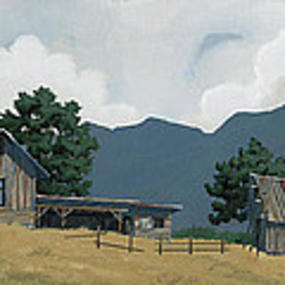 Early Bigfork Farmstead Poster by John Wyckoff