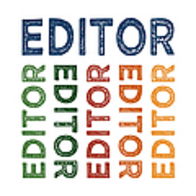 Editor Cute Colorful Poster