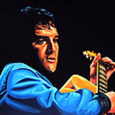 Elvis Presley 2 Painting Poster