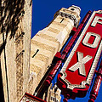 Fabulous Fox In Atlanta Poster by Mark E Tisdale