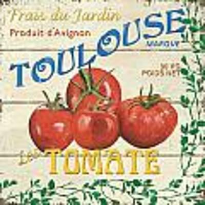 French Veggie Sign 3 Poster by Debbie DeWitt