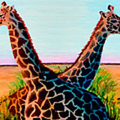 Giraffes Poster by Donna Proctor