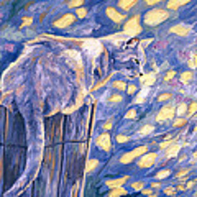 Hemingway Cat Poster by Lucie Bilodeau