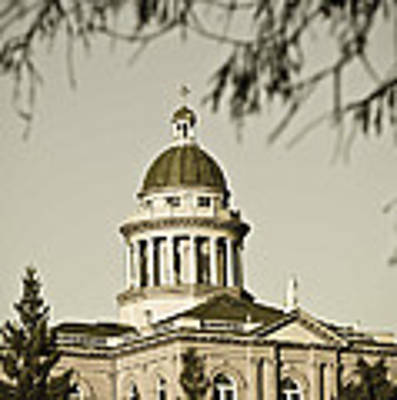 Historic Auburn Courthouse 6 Poster by Sherri Meyer