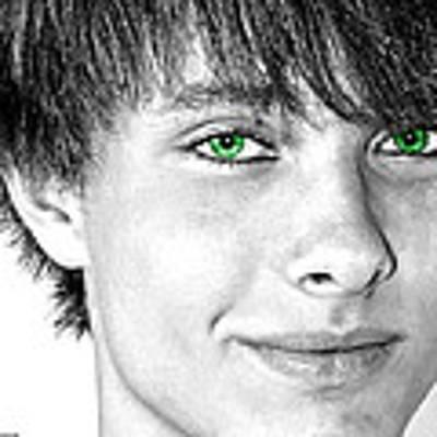 Irish Eyes Poster by Michael Taggart