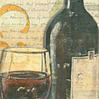 Italian Wine And Grapes Poster