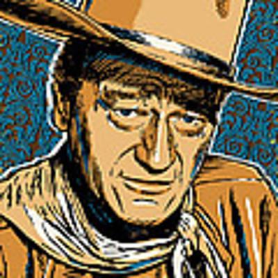 John Wayne Pop Art Poster by Jim Zahniser