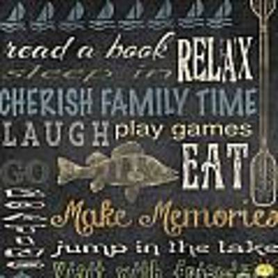 Lake Rules-relax Poster