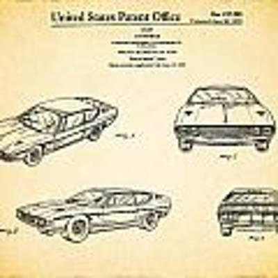 Lamborghini Patent Poster