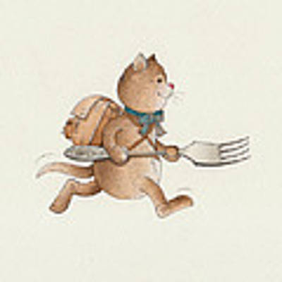 Lazy Cats07 Poster by Kestutis Kasparavicius