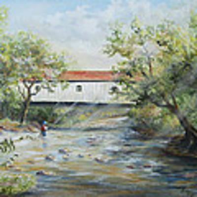 New Jersey's Last Covered Bridge Poster by Katalin Luczay