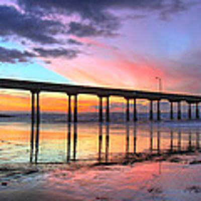 Ocean Beach Sunset Poster by Nathan Rupert