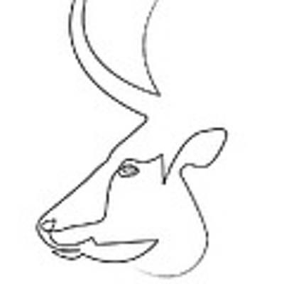 oneline Bull Poster