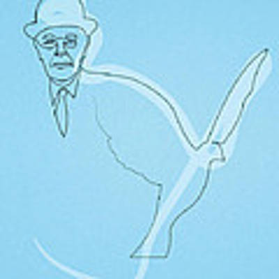 Oneline Magritte Poster