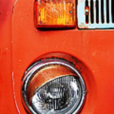 Orange Camper Van Poster