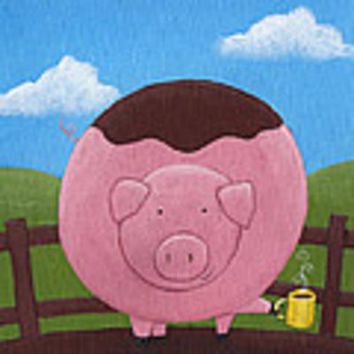Pig Nursery Art Poster