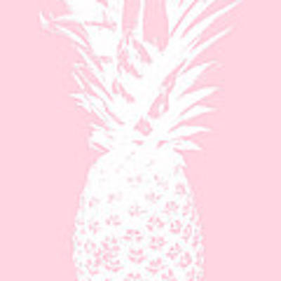 Pink And White Pineapple Poster