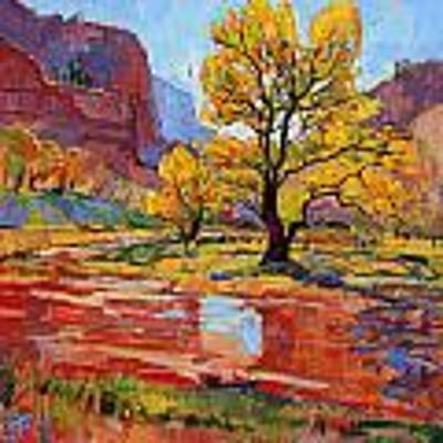 Reflections In The Wash Poster by Erin Hanson