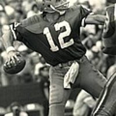 Roger Staubach Vintage Nfl Poster Poster by Gianfranco Weiss